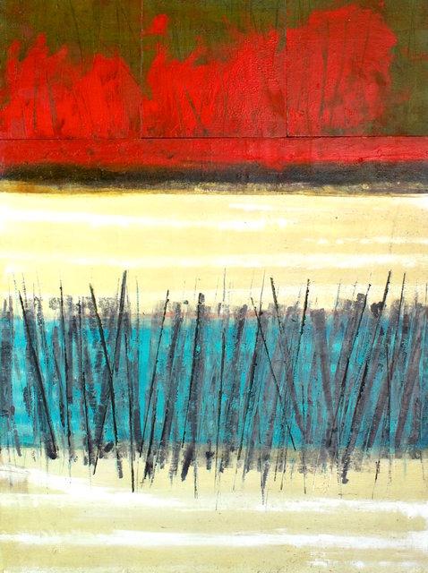 Laguna Pueblo, NM $1,750.00 - 32x24 in Oil & Cold Wax on a birch wood panel