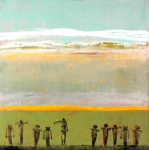 Sandia pueblo, Nm $1,250.00 18x18 in, Oil & Cold Wax on a birch wood panel