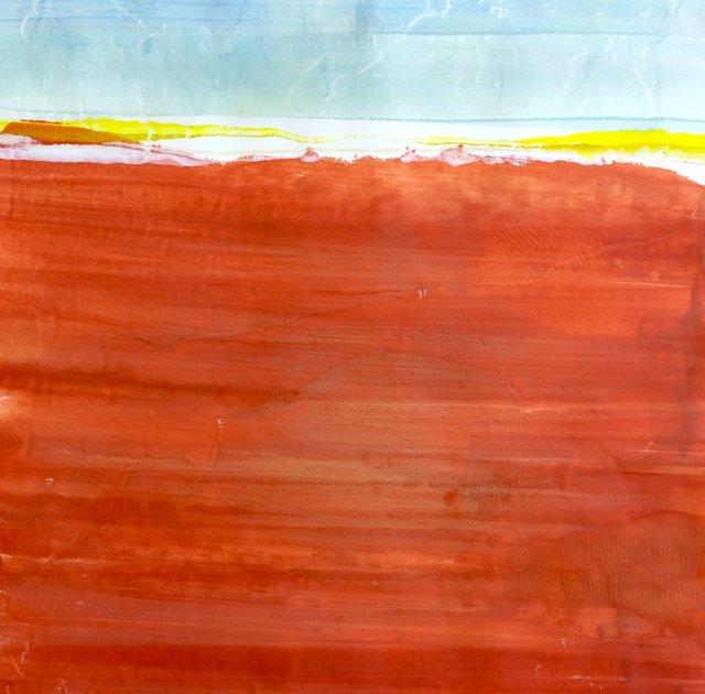 Valles Caldera Monotype on Wd. panel 20 x 20 in $1,500.00