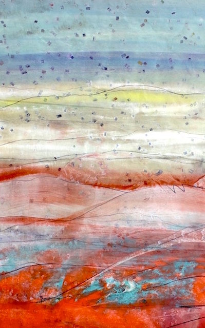 Turquoise Trail, NM - Monotype 36x24 in.$2,250.00