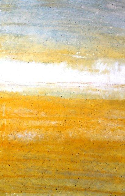 Temblor, NM  Monotype on wood panel 36x24 in