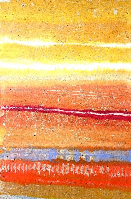 Camino De La Tierra Monotype on wood panel 36x24 in