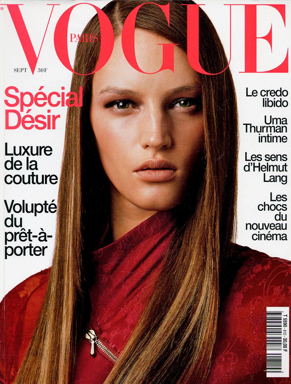 Vivienne Solari Cover Vogue Paris sept 2001