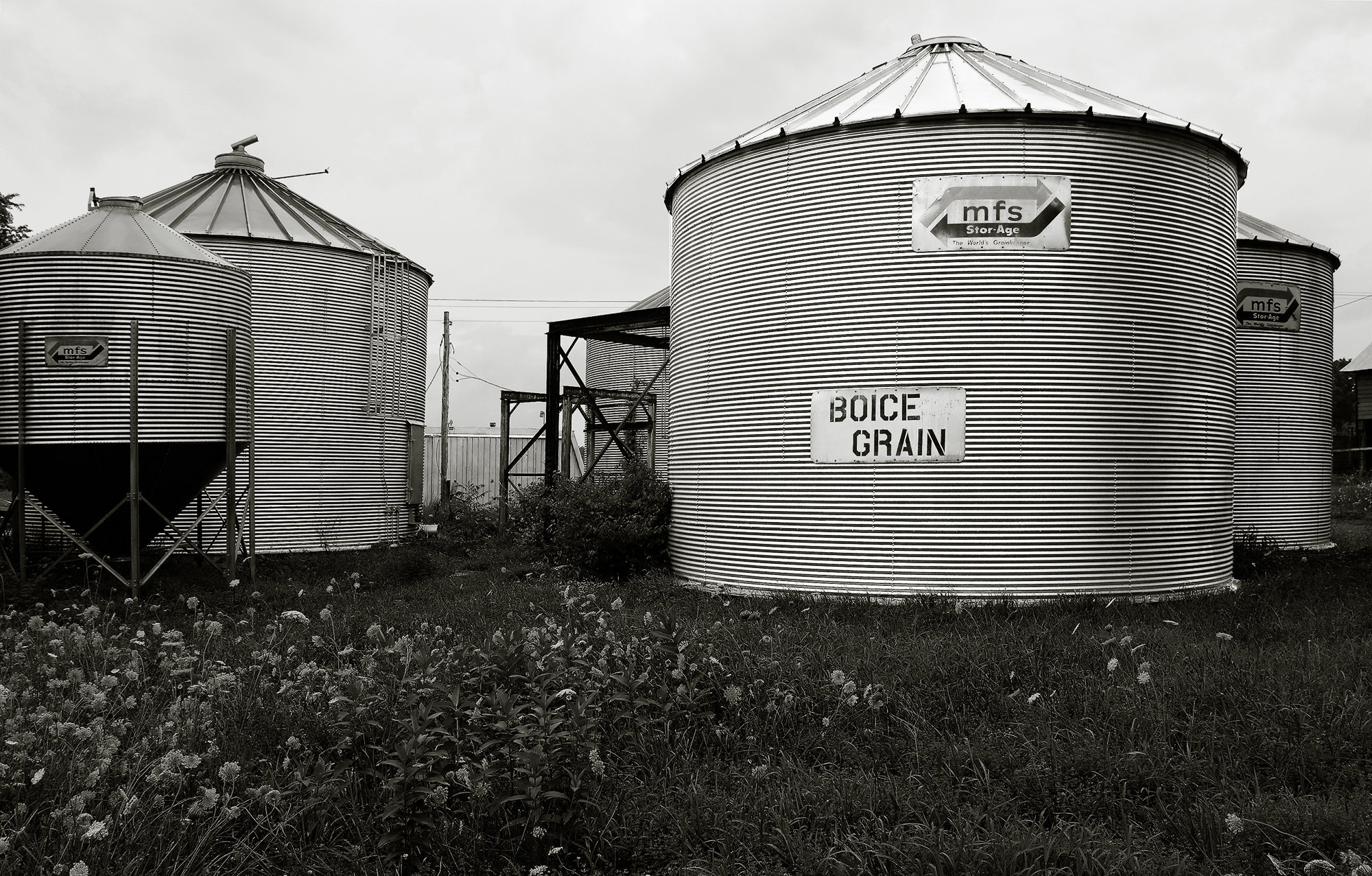 Grain Bins, Blue Stores New York