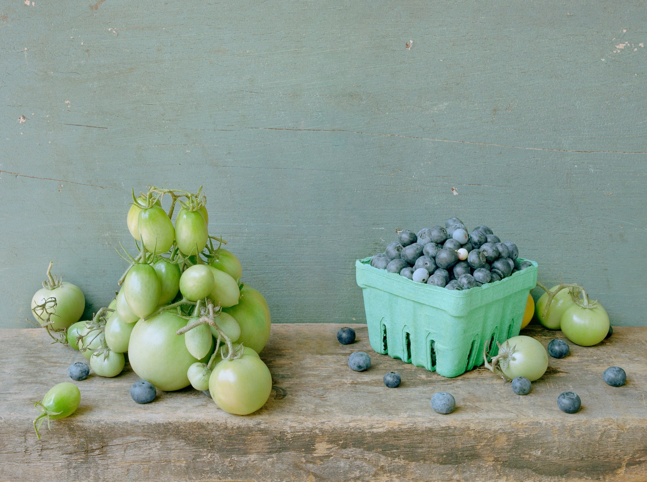 Green Tomatoes and Blueberries, c 2007