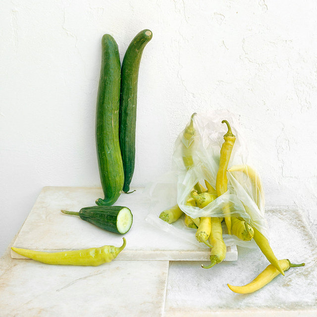 Cucumbers and Peppers, c 2007