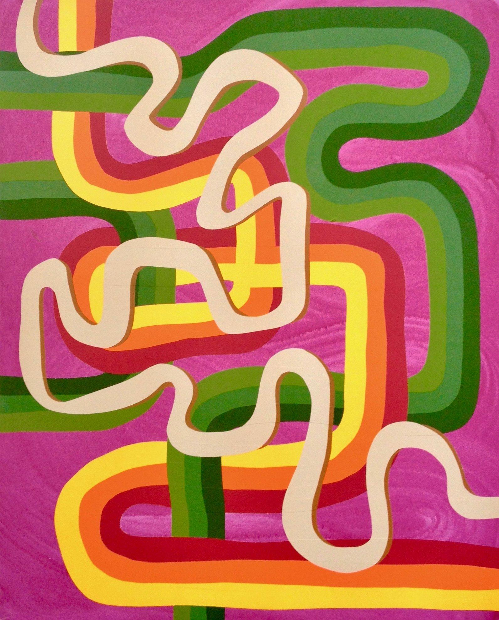 Untitled (3 Lines on Purple)
