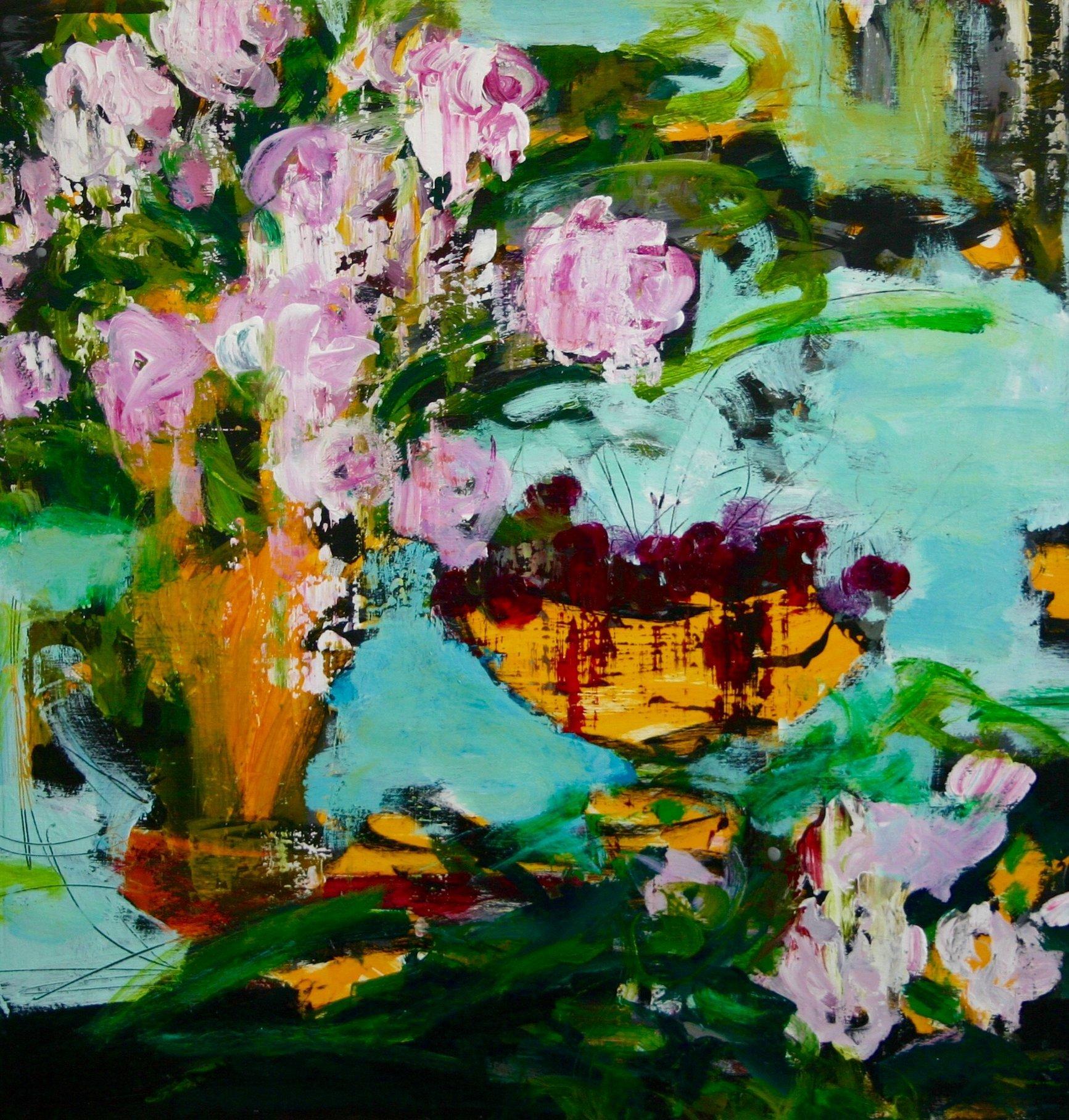 Des roses et des cerises