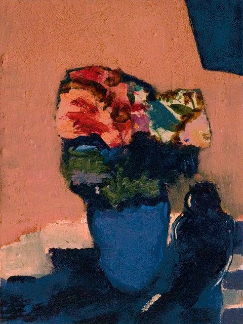 Jennifer Hornyak - Striped Quilt with Flowers