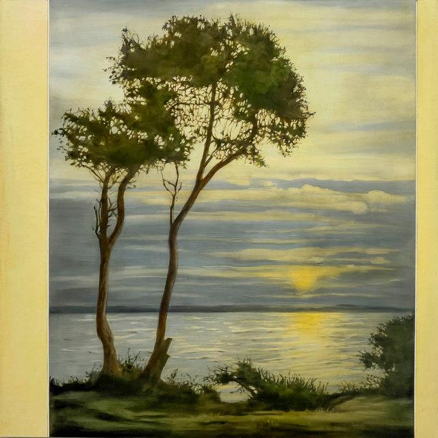 Kaufmann's 1910 Pine Tree's with Rising Moon