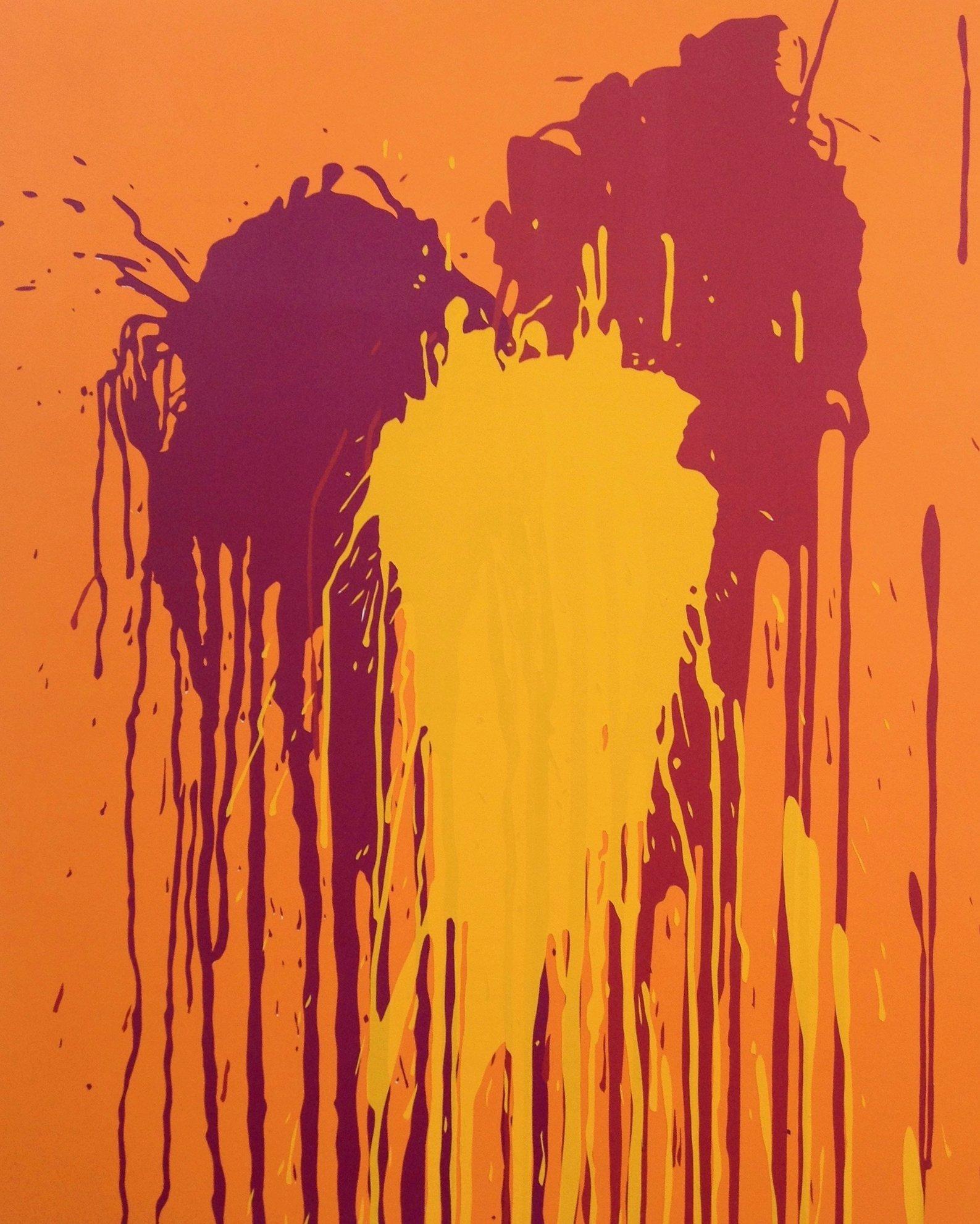 Untitled (Splash on Orange)