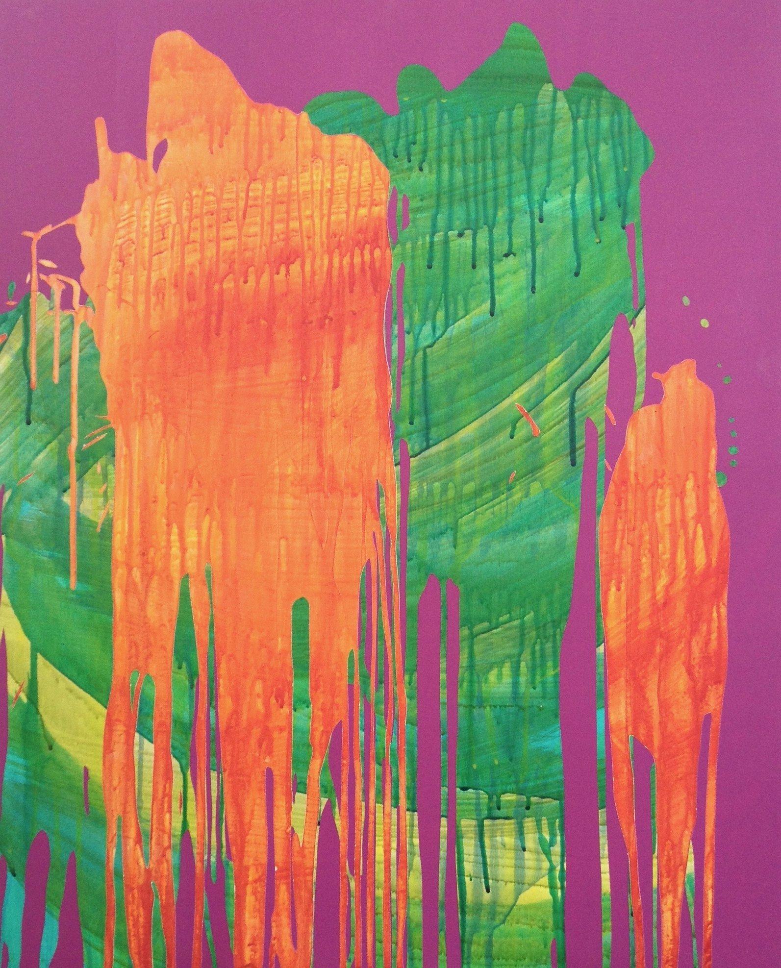 Untitled (Transparent Splash on Purple)