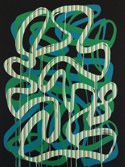 Ligne de lignes verte