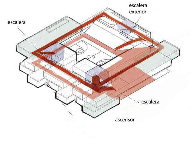 Circulación interior / Interior circulation