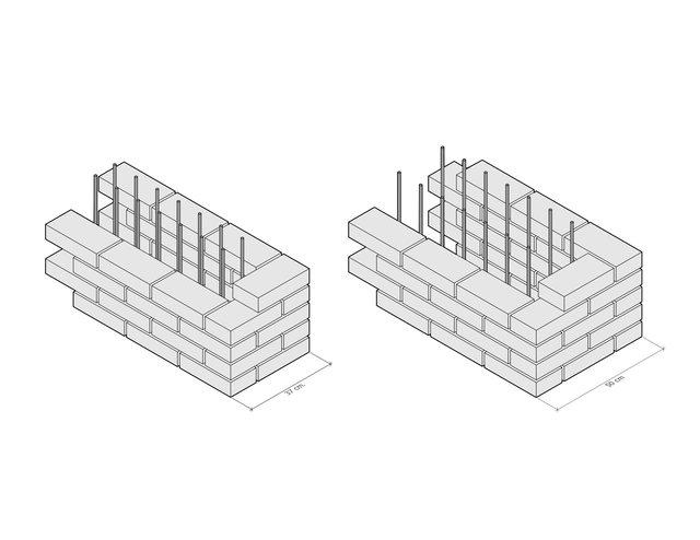 Ladrillo como formaleta y acabado / Brick as formwork and finish