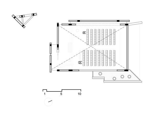Planta del clerestorio / Clerestory plan