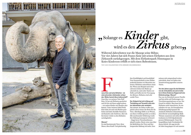 Franco Knie, Zeitlupe, Dezember 2018