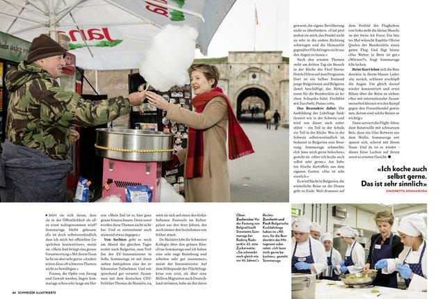 Mit Bundesrätin Simonetta Sommaruga in Belgrad und Sofia, SI 5/18