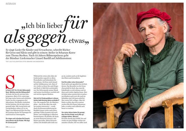 Linard Bardill, Zeitlupe, Mai 2017