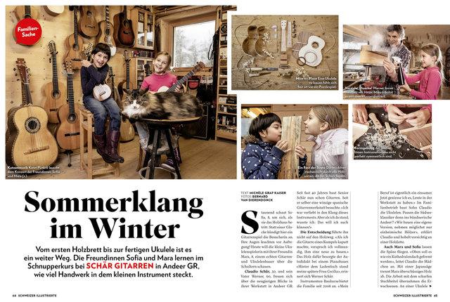 Familien-Sache Ukulele-Bau. Schweizer Illustrierte 1/2019