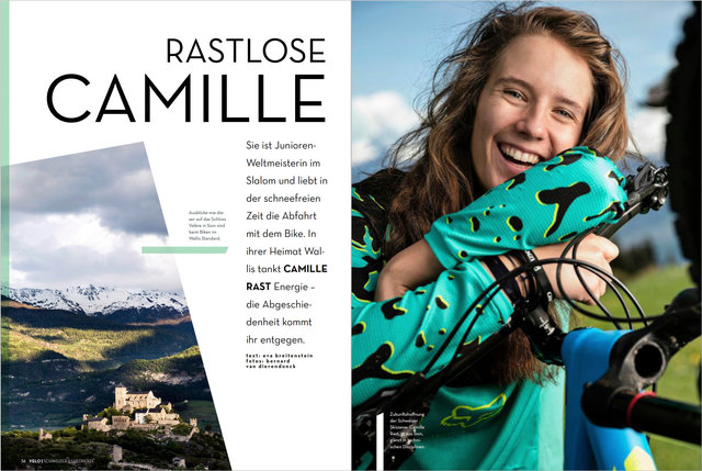 Camille Rast, VELO/Schweizer Illustrierte, Mai 2017