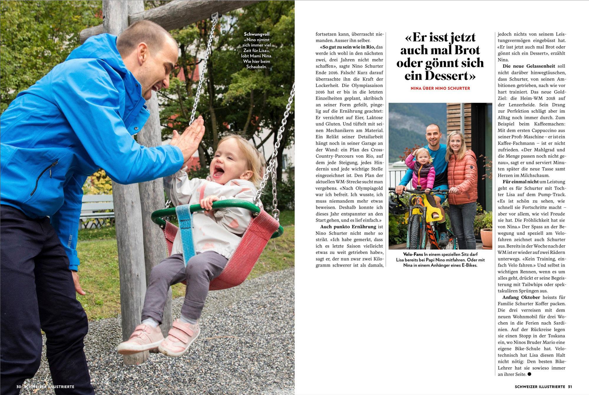 Familie Schurter, Schweizer Illustrierte, September 2017