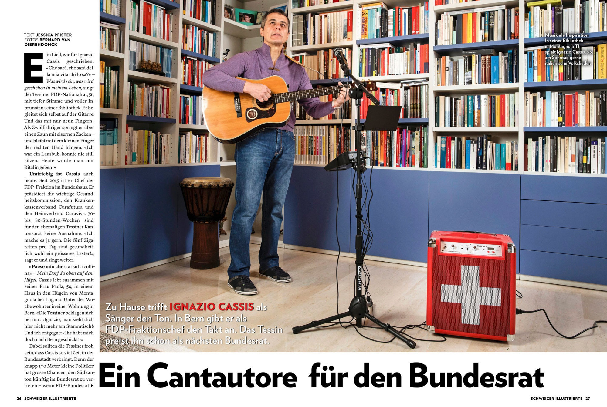 Ignazio Cassis, Schweizer Illustrierte, Mai 2017