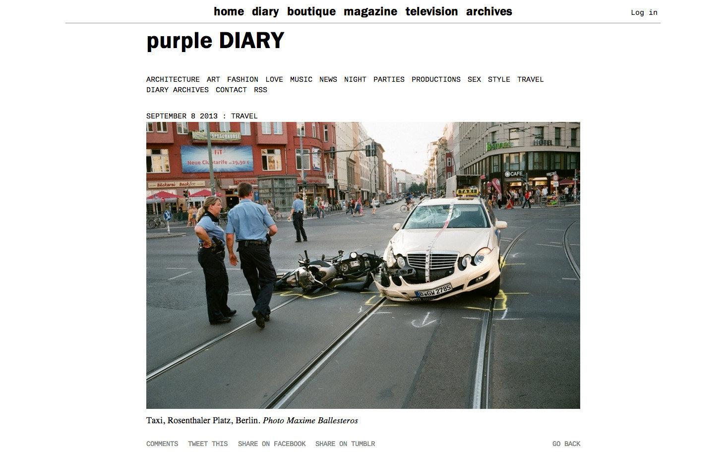 purple DIARY   Taxi  Rosenthaler Platz  Berlin. Photo Maxime.jpg