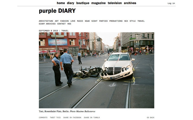 purple DIARY   Taxi  Rosenthaler Platz  Berlin. Photo Maxime.jpg