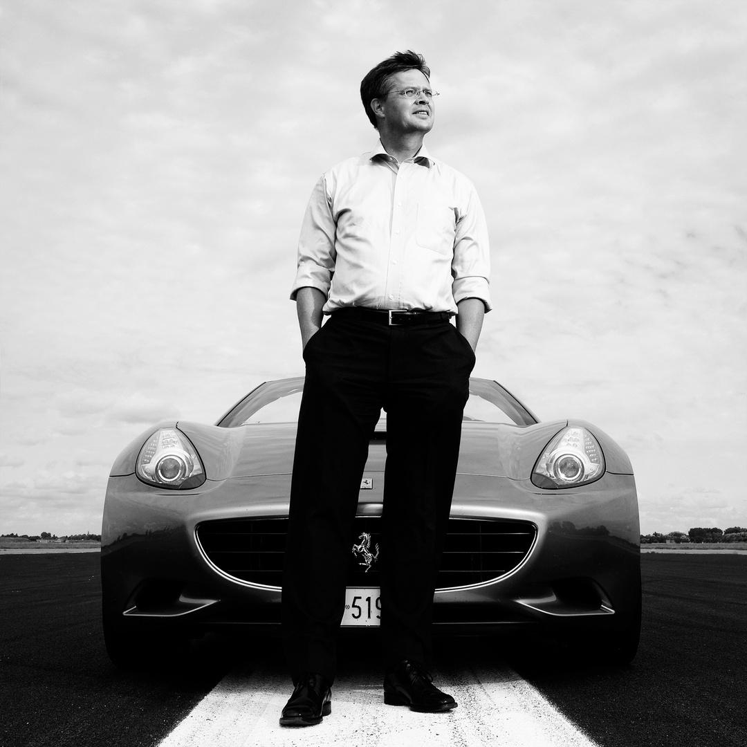Jan Peter Balkenende voor TopGear Magazine