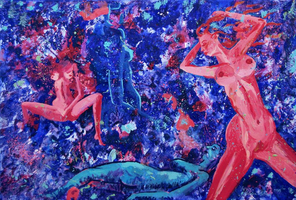 Incubus 40x60 akryl płótno 2014