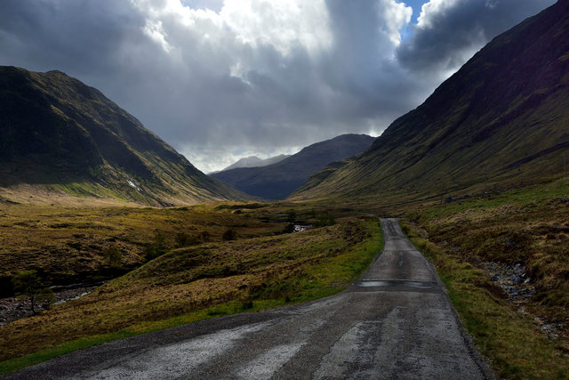 La vallée de Glen Etive, Highlands