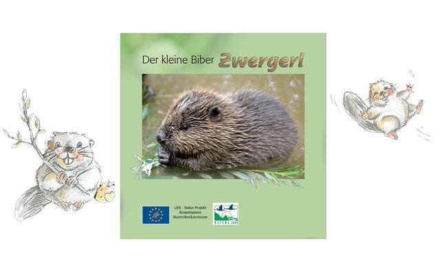 Biber, Biberfamilie, Der kleine Biber Zwergerl, wildlebend, freie Natur, Buch, Büchlein, Geschichte