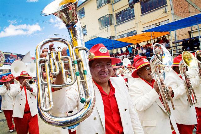 Musicians in Carnival, Oruro