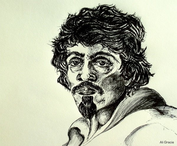 Caravaggio as an Older Man (after Leoni) by Alison Gracie