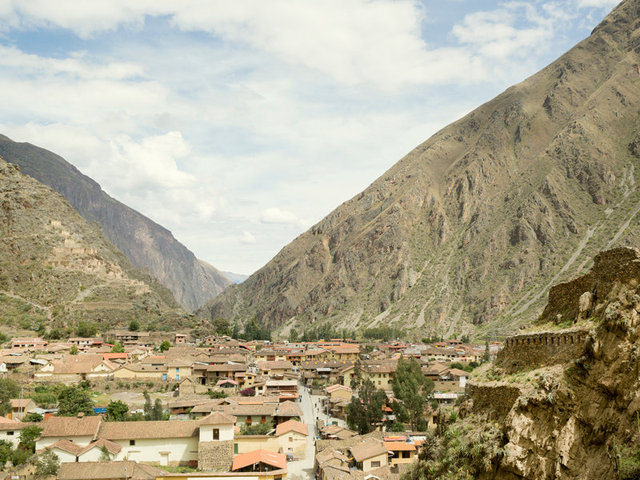 view from the temple of ollantaytambo
