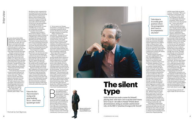 Eddie Marsan, FT Weekend Magazine, 2/3 May 2015