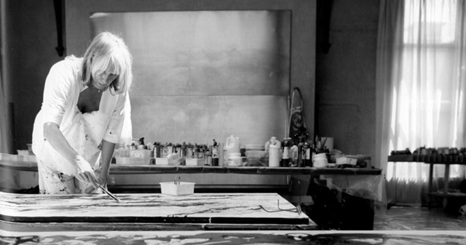 Gertrud D in her atelier 2006
