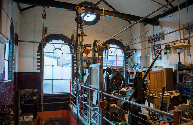 Interior of Pumphouse Museum, Walthamstow