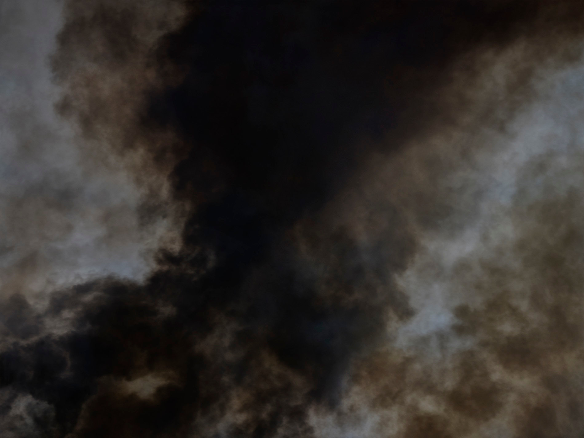 Black smoke fire in the air