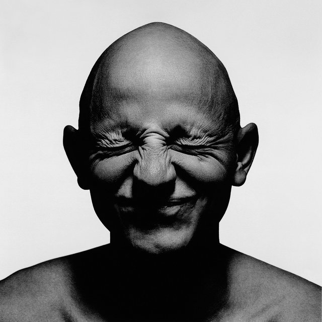 Portrait of bald male smiling