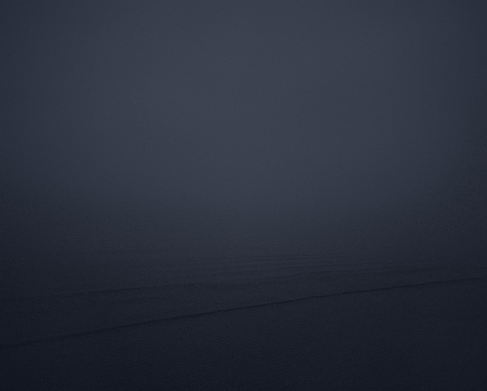 Misty dark seascape