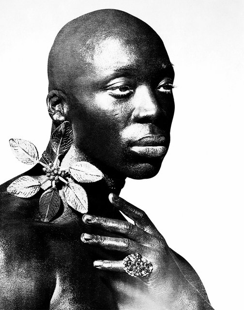 Black male portrait with jewellery