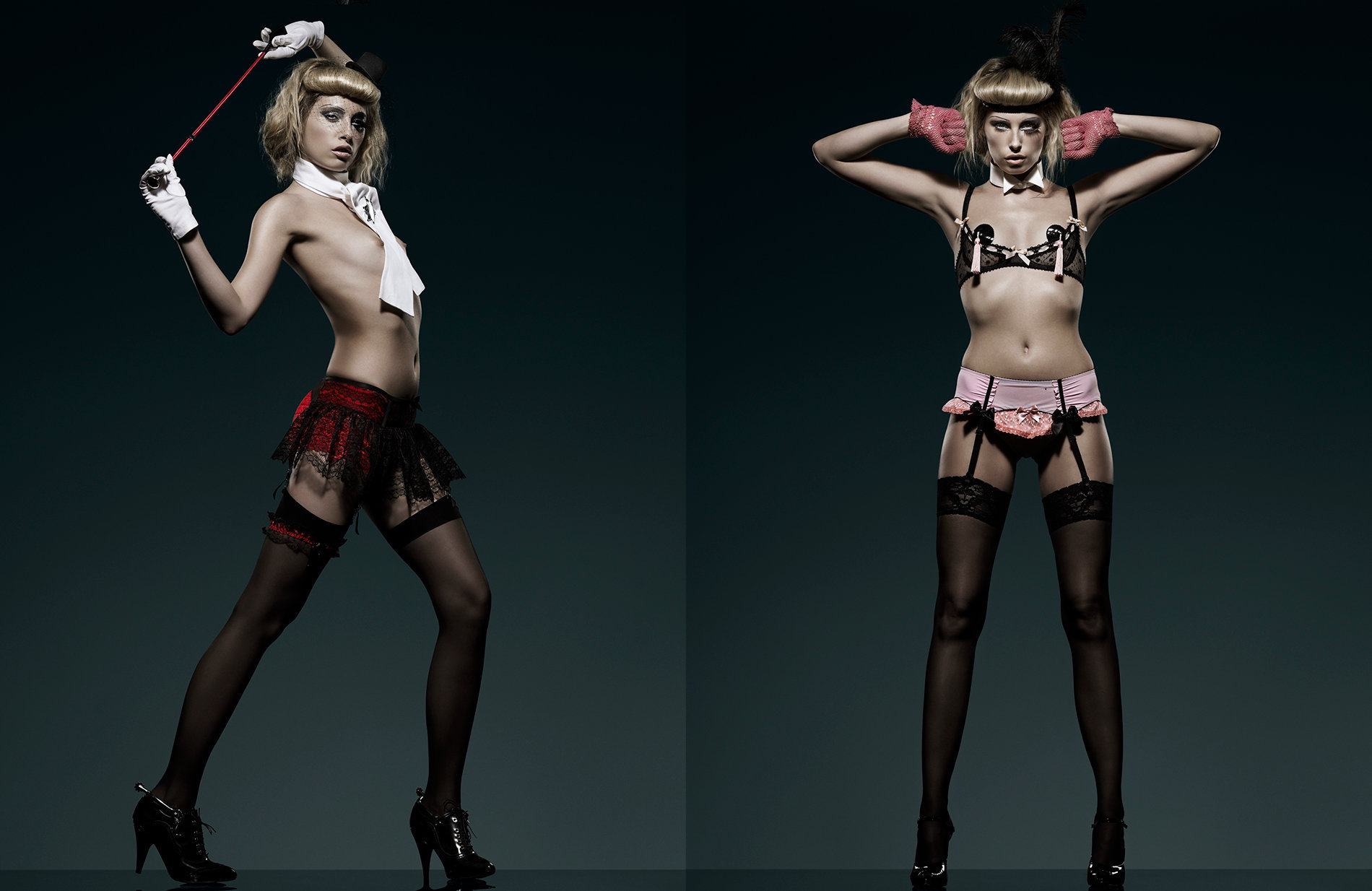 0015_Sexy Burlesque model in black stockings& high heels by Beauty Photographer Kenneth Rimm.jpg