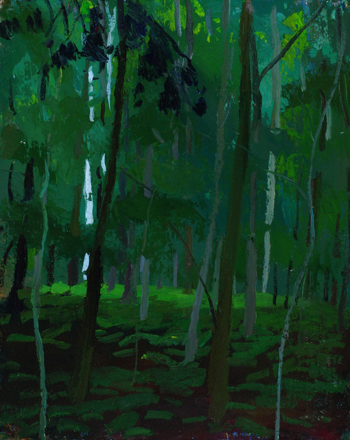 """Glowing Sycamores, 30 x 24"""""""