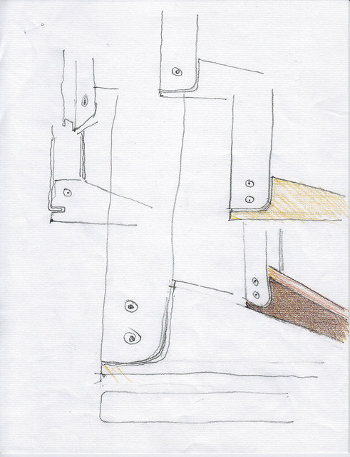 Study for a modular design structure and leg.