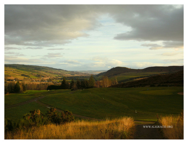 View above Strathpeffer by Alison Gracie