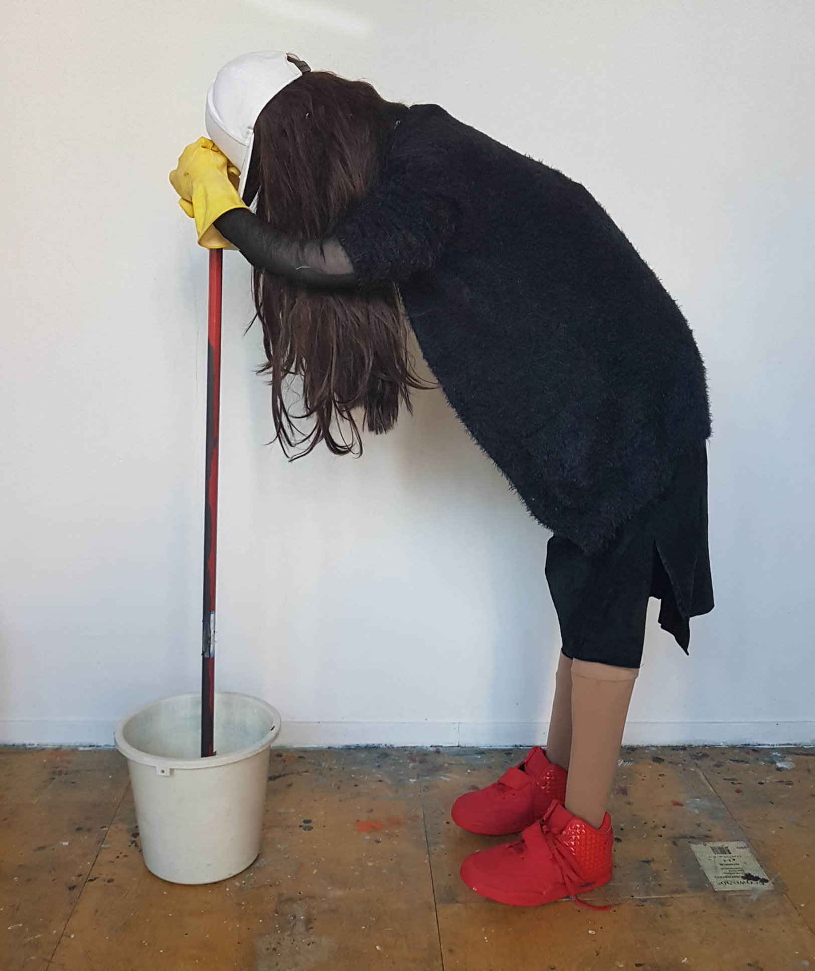 Kevin Power, Untitled (Office cleaner - Milan-Amsterdam), 2018