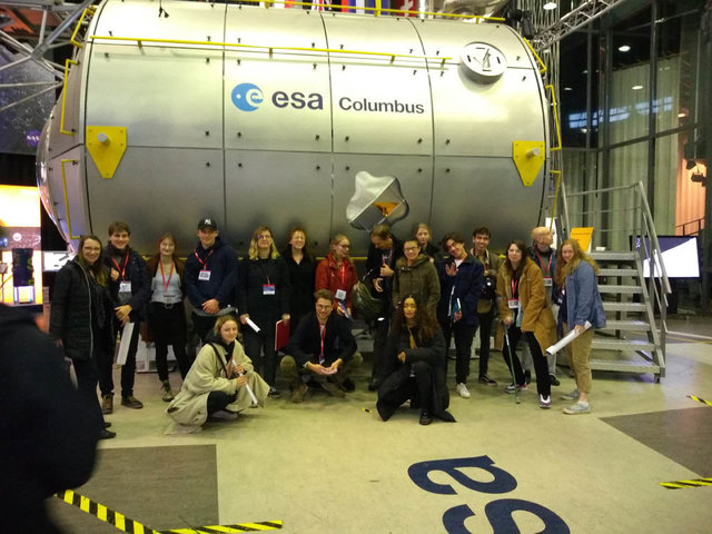 Willem De Kooning students at ESA, 10 January 2020