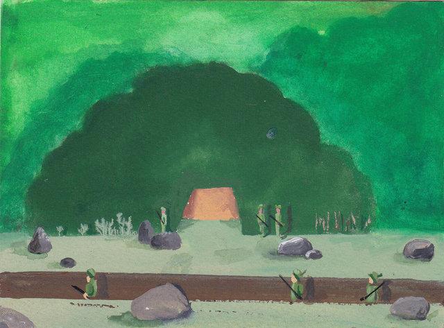 nassenstein into the woods 2016 gouache op papier 10 x 15 cm.jpg